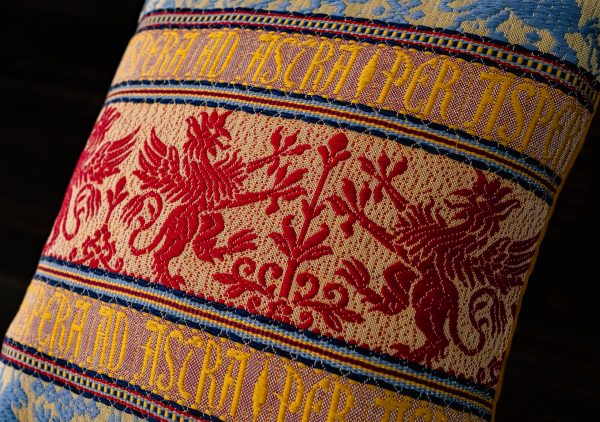 """Cotton and velvet """"Griffin"""" cushion - Cotton, Cushions"""