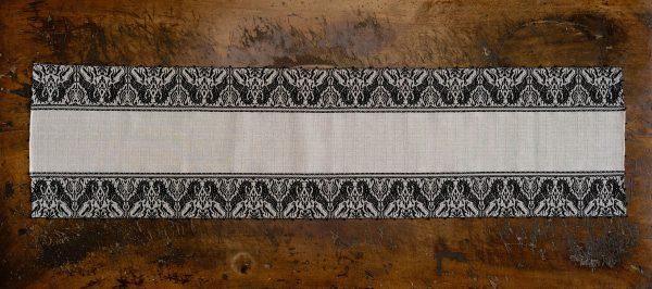 """Table runner linen blend ivory black """"Unicorn"""" - Linen blend, Table runners"""